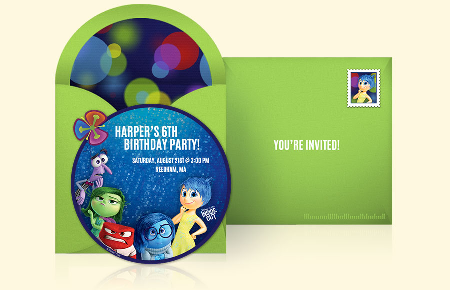 Plan a Inside Out Party!