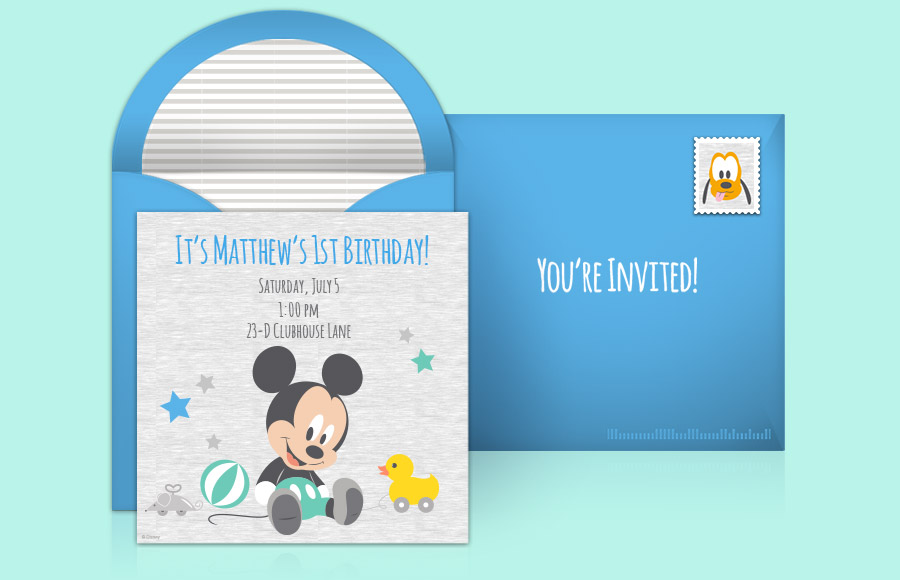 Plan a Mickey Mouse 1st Birthday Party!