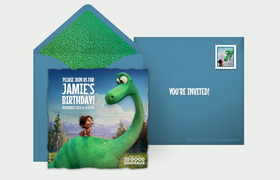 Plan a The Good Dinosaur Party!
