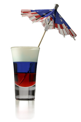 Red, White, and Blue Cocktail