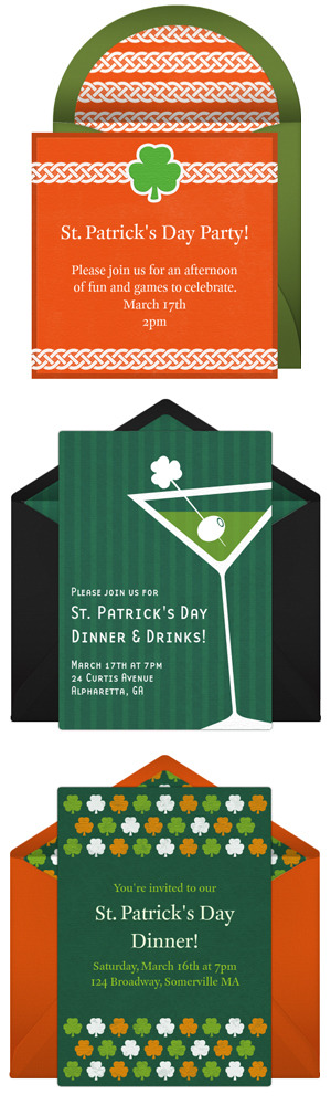 Free St. Patrick's Day invitations by Punchbowl