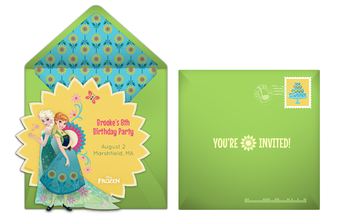 Frozen Fever online invitation