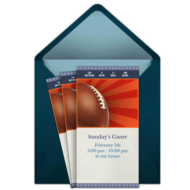 Free Super Bowl Online Invitations