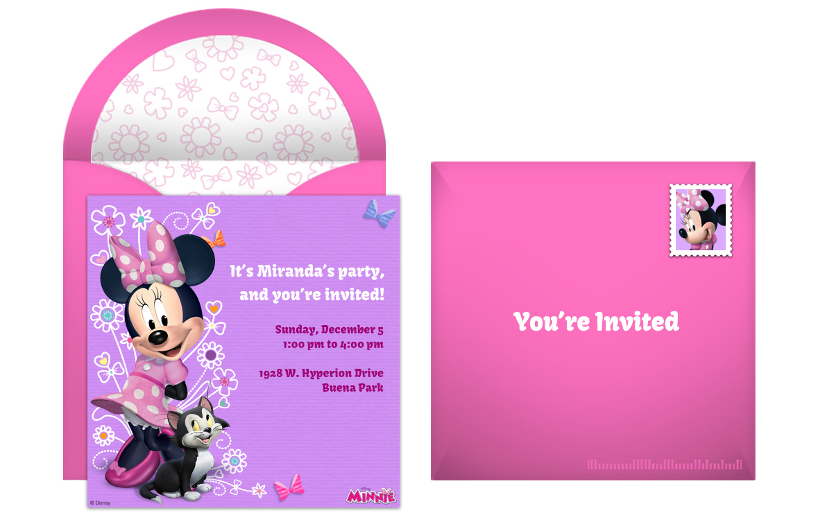 free minnie mouse online invitation
