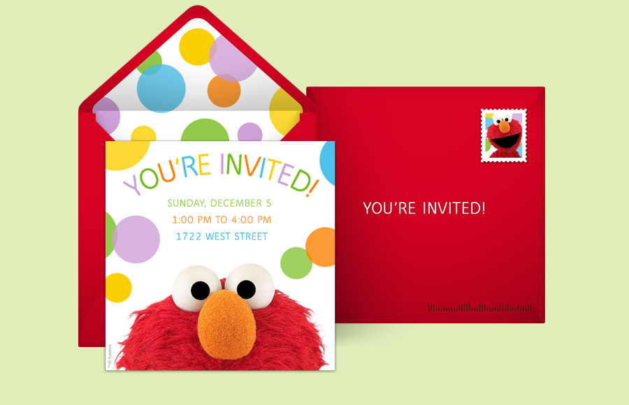 Free Sesame Street Invitations Sesame Street Online Invitations – Elmo Birthday Card
