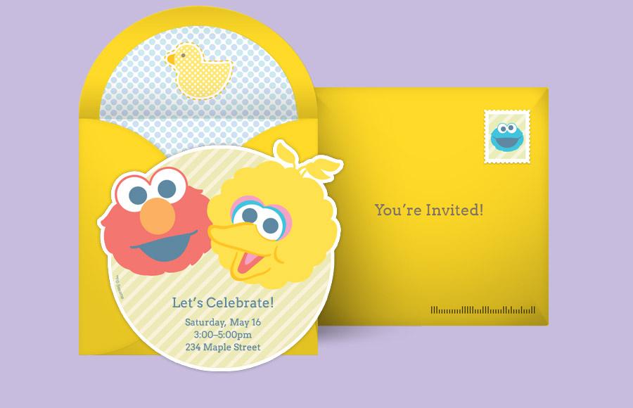 Sesame Street Invitation Template orderecigsjuiceinfo