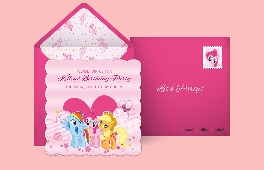 free my little pony invitations, my little pony online invitations, Party invitations