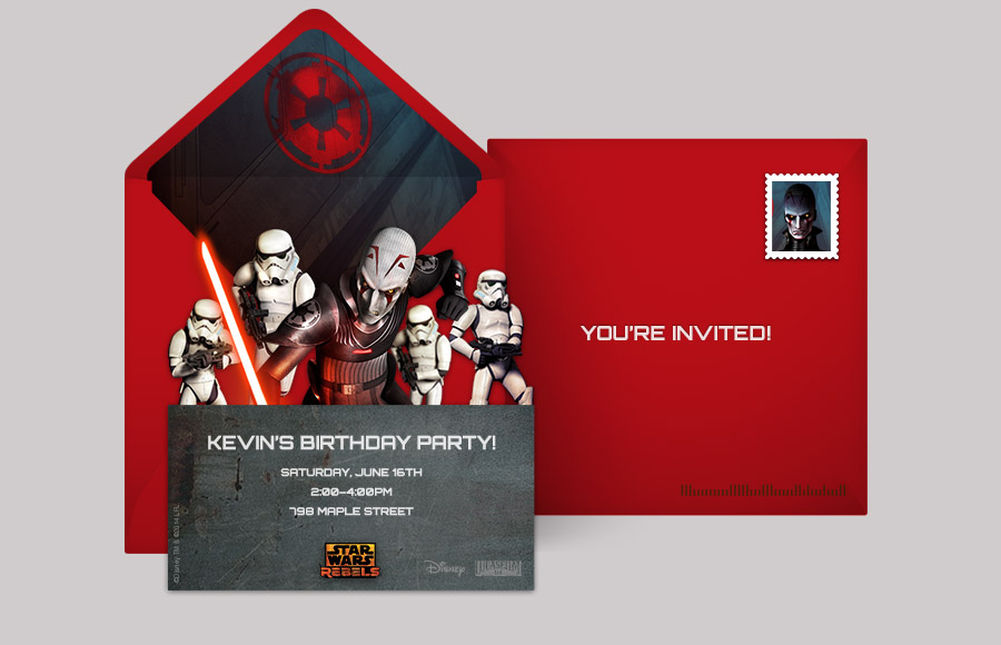 evite design your own free star wars invitations star wars online invitations punchbowl